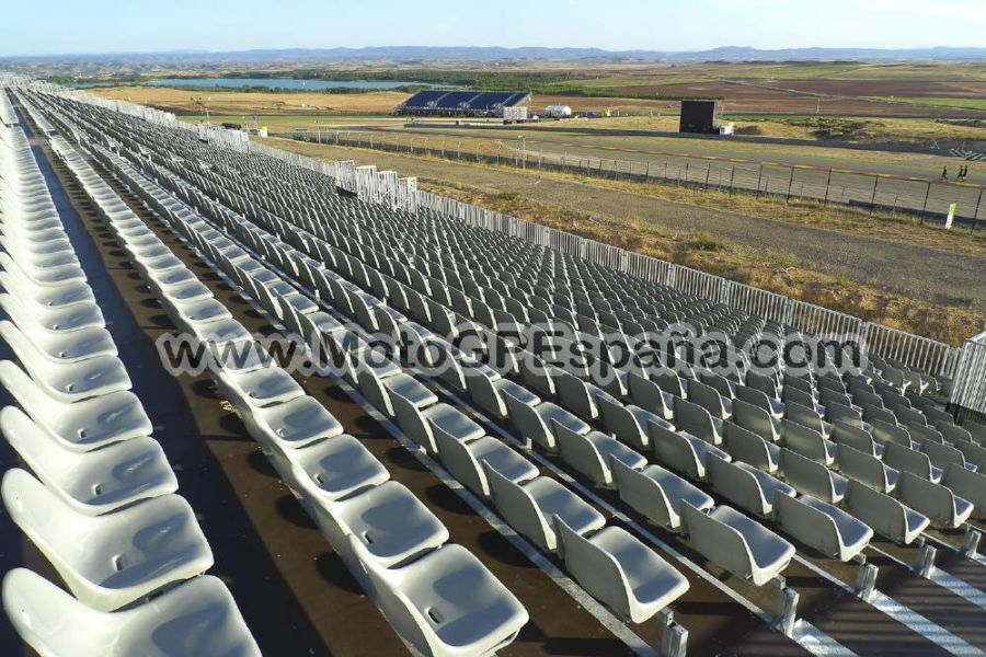 Circuito Alcañiz : Grada b gp aragon motogp españa